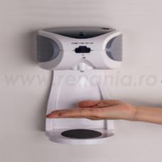 Dispenser cu senzori pt. dezinfectanti 500 ml alb cu tavita, art.1F48