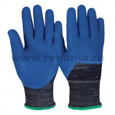 Manusi tricotate din fibre sintetice, imersata 3/4, art.C814 (N3500)