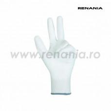 Manusi tricotate din poliester cu aplicatii din poliuretan pe degete si in palma SENSOR P, art.C199 (1464P)