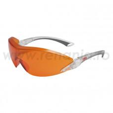 Ochelari de protectie 3M COMFORT cu lentile rosu-orange, art.D315 (2846)