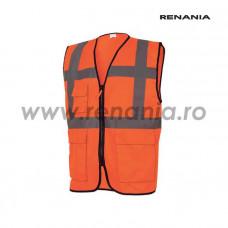 Vesta de semnalizare cu buzunare si fermoar MANAGER (portocaliu), art.5B49 (91941)