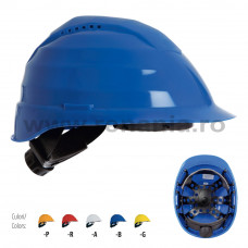 Casca de protectie Rockman + dispozitiv de reglare rapida + suspensie plastic, art.D268 (2694DR)