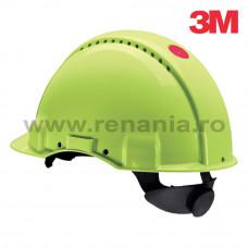 Casca de protectie Uvicator G3000 cu sistem de fixare rotita, verde, art.3D03 (G3000H-VIZ)