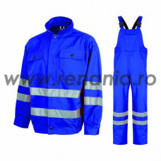 Costum salopeta cu pieptar tercot, 200 g/mp, cu benzi reflectorizante REFLEX, art.5B06 (9098)