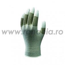 Manusi ESD tricotate din nailon impregnate cu PU pe varful degetelor, art.C683 (A0160)