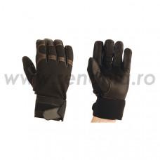 Manusi de protectie anti-vibratie din piele+material textil, art.C692 (AV3)