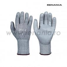 Manusi de protectie anti-taiere nivel C din fire HPPE impregnate cu PU RECUT5, RENANIA, art.C286 (1610)