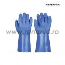 Manusi de protectie chimica si anti-taiere nivel C din PVC pe suport kevlar POWERSHIELD, RENANIA, art.C164 (1447)