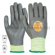 Manusi tricotate din fibre sintetice, imersata 3/4, art.C829 (P3000-FD)
