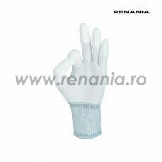 Manusi tricotate din poliester cu un strat subtire din poliuretan pe varful degetelor BEST P, RENANIA, art.C208 (1468P)