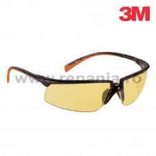 Ochelari de protectie Solus cu lentila galbena, art.D911 (3M) (8026)