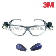 Ochelari de protectie cu lentile incolore si cu lanterne laterale, gama Led Light Vision, art.D322 (2892)