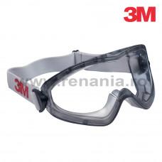 Ochelari de protectie tip goggle, cu aerisire indirecta, lentila din policarbonat 3M Premium, art.D316 (2890)