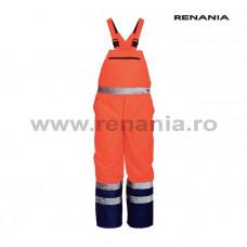 NORWAYvízálló, fényvisszaverő téli melles nadrág (narancssárga)   art.5B33 (9188)