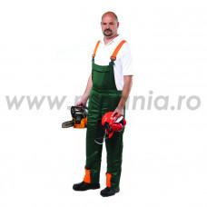 Pantalon cu pieptar de protecţie pentru forestieri, art.46B6 (T002-C)