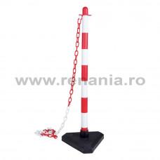 Stalp de delimitare PVC alb/rosu, art.T158 (159)