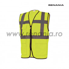 Vesta de semnalizare cu buzunare si fermoar MANAGER (galben), RENANIA, art.5B53 (91951)